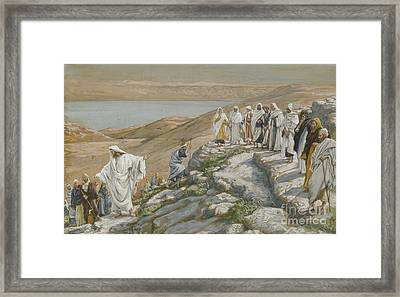 Ordaining Of The Twelve Apostles Framed Print by Tissot