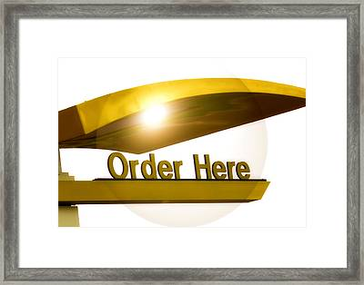 Order Up Framed Print by Karen Scovill