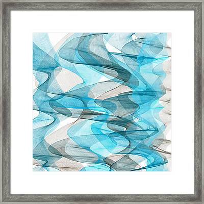 Orderly Blues And Grays Framed Print