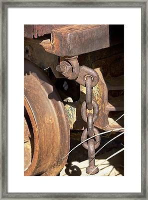 Ore Car Chain Framed Print