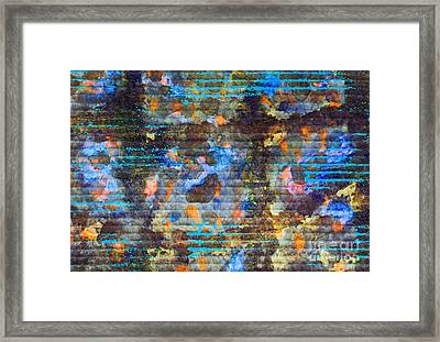 Ore Textures Framed Print