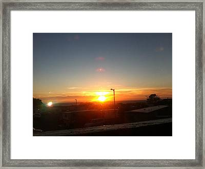 Oregon Blazing Sunset Framed Print
