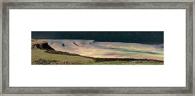 Oregon Canyon Mountain Layers Framed Print by Leland D Howard