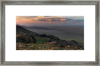 Oregon Canyon Mountain Views Framed Print by Leland D Howard