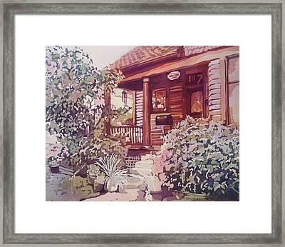 Oregon City Porch Framed Print by Jenny Armitage