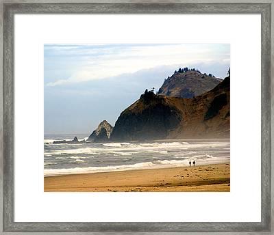 Oregon Coast 12 Framed Print by Marty Koch
