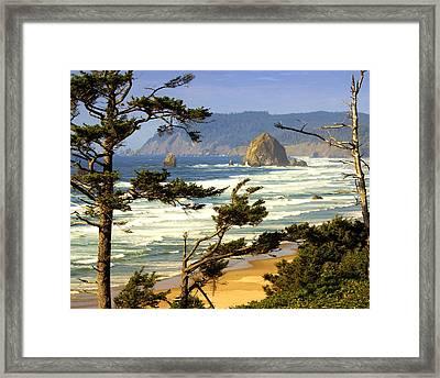 Oregon Coast 15 Framed Print by Marty Koch
