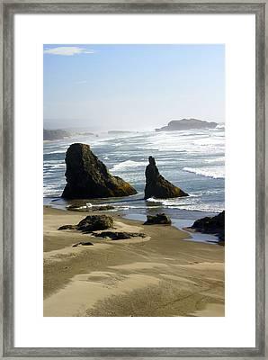 Oregon Coast 19 Framed Print by Marty Koch