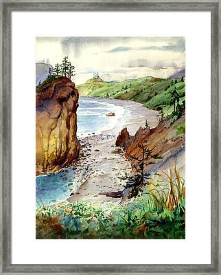 Oregon Coast #3 Framed Print by John Norman Stewart