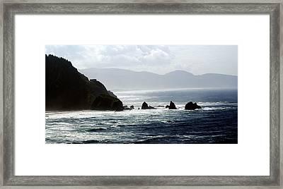 Oregon Coast 5 Framed Print by Marty Koch