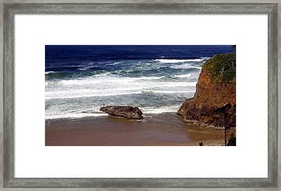 Oregon Coast 6 Framed Print by Marty Koch