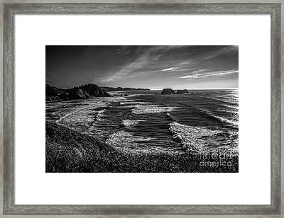 Oregon Coast At Sunset Framed Print by Jon Burch Photography