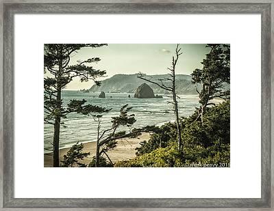 Oregon Coast At Sunset Framed Print