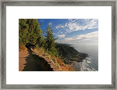 Framed Print featuring the photograph Oregon Coast Cape Perpetua View by Lara Ellis