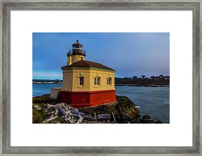 Oregon Coast Lighthouse Framed Print by Garry Gay