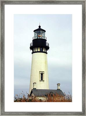 Oregon Coast Lighthouses - Yaquina Head Lighthouse Framed Print by Christine Till