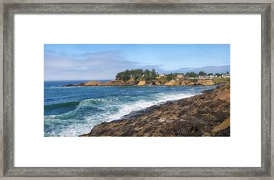 Oregon Coast Near Lincoln City Oregon. Framed Print by Gino Rigucci