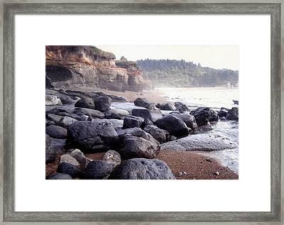 Oregon Coast Rocks Framed Print