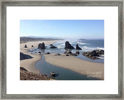 Oregon Coast Sea Stacks Framed Print