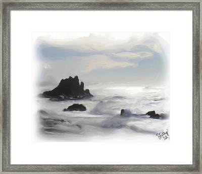 Oregon Coast Framed Print by Shelley Bain