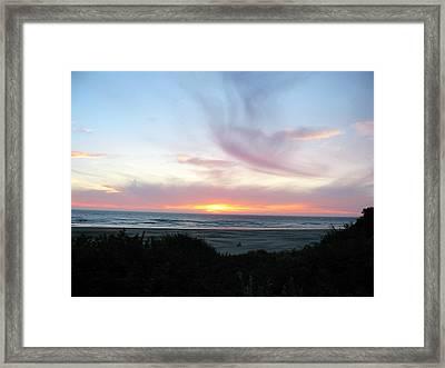 Oregon Coast Sunset Framed Print by Mirinda Kossoff