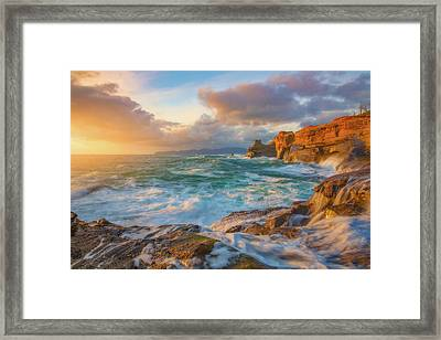Framed Print featuring the photograph Oregon Coast Wonder by Darren White