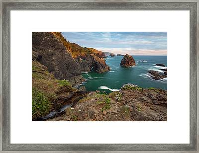 Oregon Coastal Scenic Framed Print by Leland D Howard