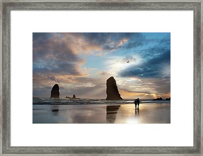 Oregon Coastine Framed Print