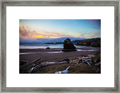 Oregon Costal Landscape Framed Print by Garry Gay