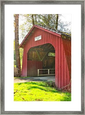 Oregon Covered Bridge - Drift Creek 1914 Framed Print by Image Takers Photography LLC - Laura Morgan