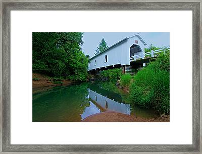 Oregon Covered Bridge Framed Print by Sean Sarsfield