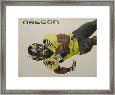 Oregon Ducks Lamichael James Framed Print