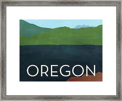 Oregon Landscape- Art By Linda Woods Framed Print by Linda Woods