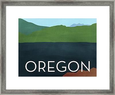 Oregon Landscape- Art By Linda Woods Framed Print