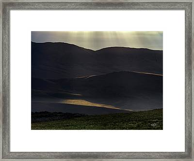 Oregon Mountains 1 Framed Print by Leland D Howard