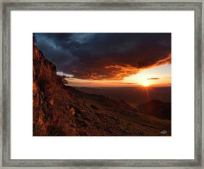 Oregon Mountains Sunrise Framed Print by Leland D Howard