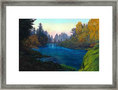 Oregon Santiam Landscape Framed Print by Michael Orwick