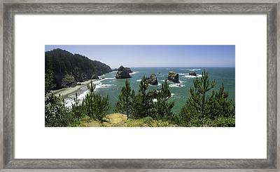 Oregon Seascape Framed Print