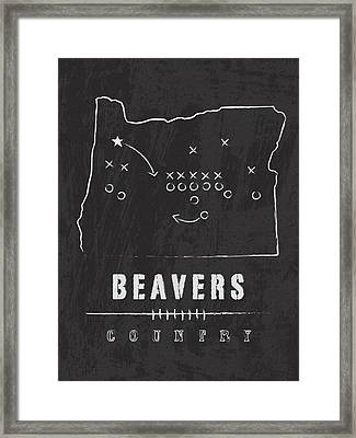 Oregon State Beavers Country Framed Print