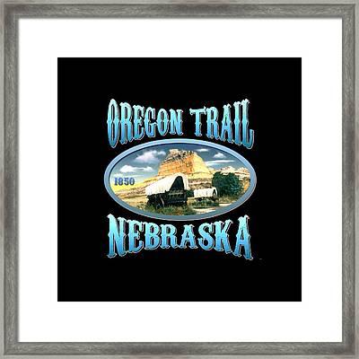 Oregon Trail Nebraska History Design Framed Print