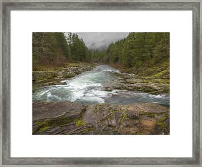 Oregon Umpqua River By Jean Noren Framed Print by Jean Noren