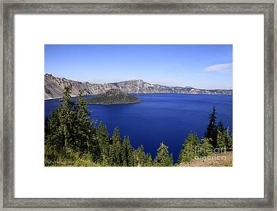 Oregons Crater Lake Framed Print