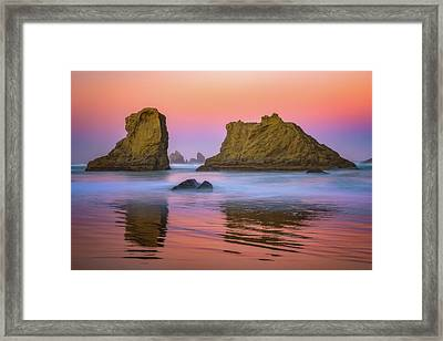 Framed Print featuring the photograph Oregon's New Day by Darren White