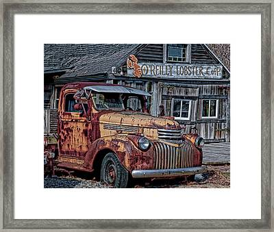 O'reilly Lobster Pound Framed Print