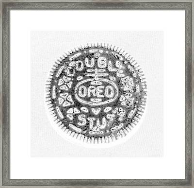 Oreo In Negetive Framed Print by Rob Hans