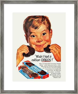 Oreo Vintage Ad  Framed Print by Paul Van Scott