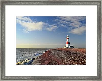 Orford Ness Lighthouse Framed Print by Photo by Andrew Boxall
