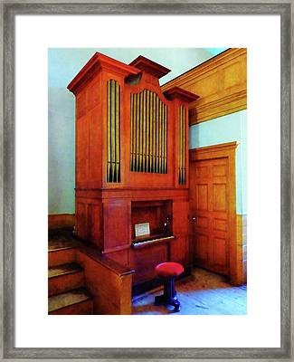 Organ In Church Framed Print by Susan Savad
