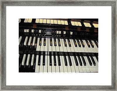 Hammond Organ Keys Framed Print