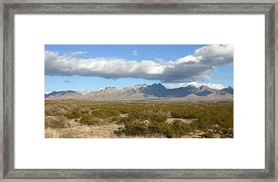 Organ Mountain Stormy Panorama Framed Print